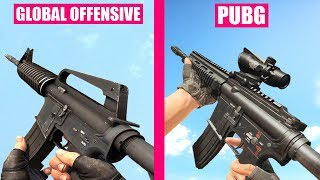 Counter-Strike Global Offensive Guns Reload Animations vs PUBG