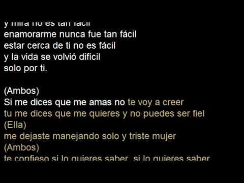 Sebastian Yatra ft Karen Mendez version DUETO - Traicionera Karaoke