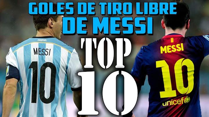 top 10  mejores goles de messi de tiro libre