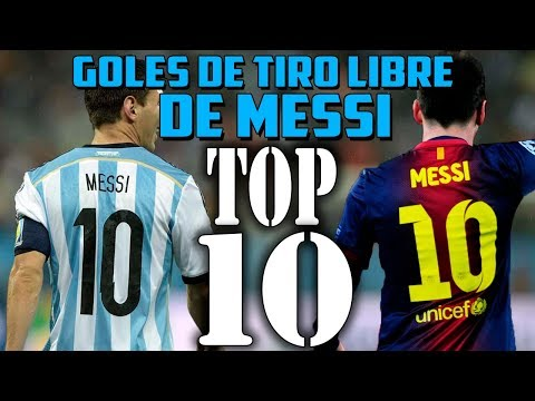 TOP 10 | MEJORES GOLES DE MESSI DE TIRO LIBRE