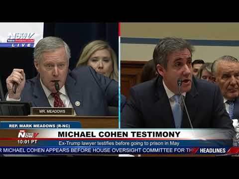 HEATED EXCHANGE: Congressman Mark Meadows And Michael Cohen