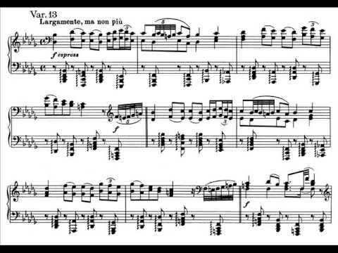 Brahms - Variazioni su tema di Handel op. 24 (score)