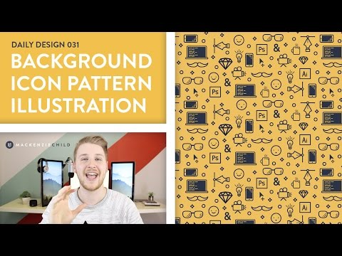 Daily Design 031 - Background Icon Pattern Illustration (Speed Art)