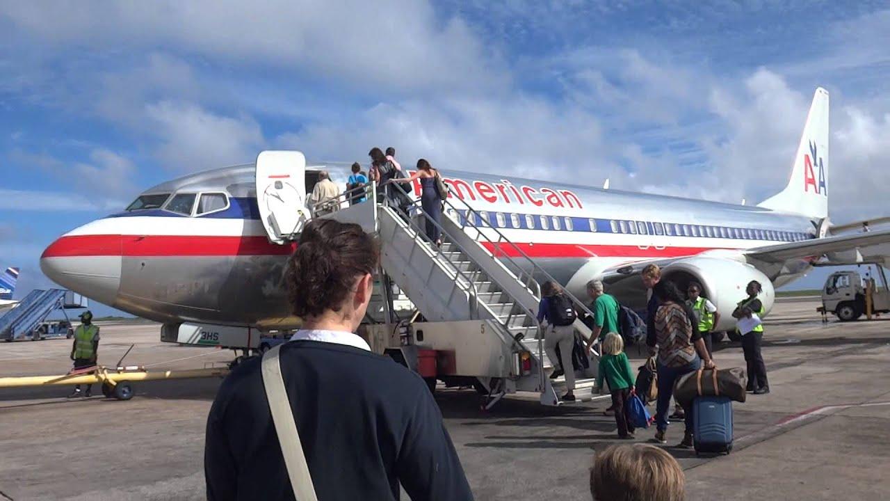 Boarding American Airlines At Grantley Adams International