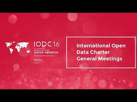 International Open Data Charter General Meetings - Oct  5