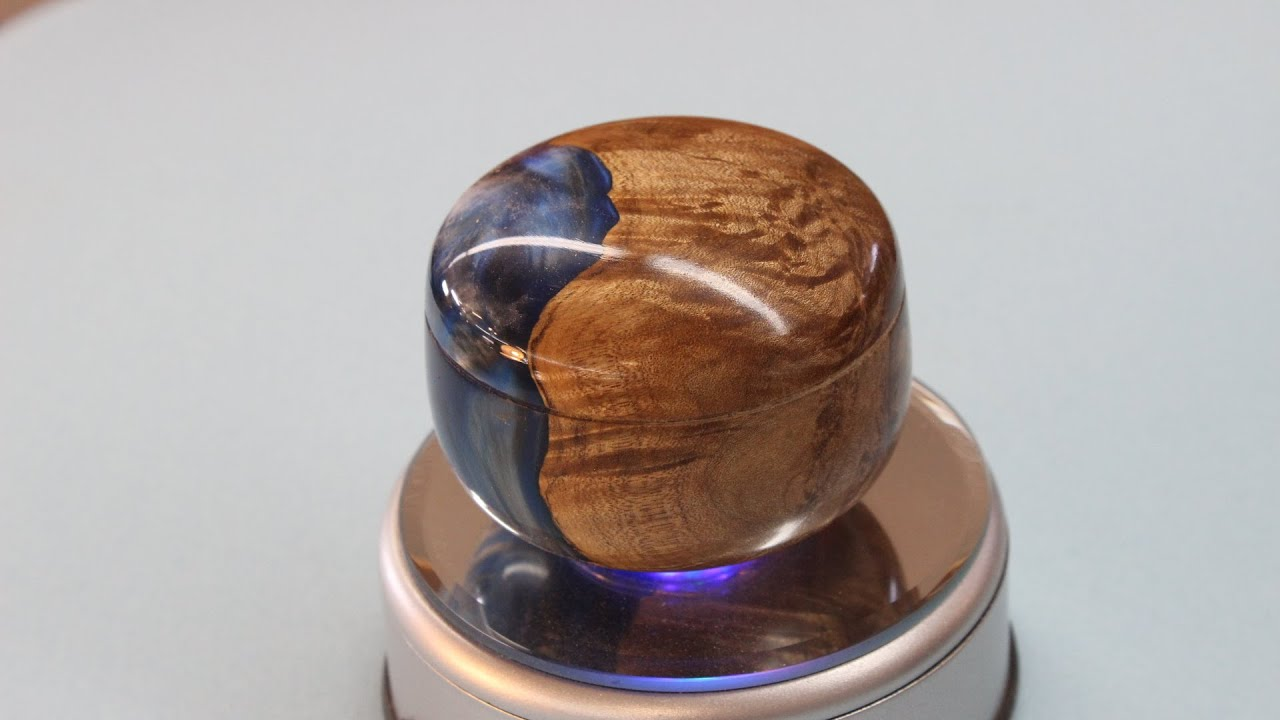 Resin And Maple Burl Lidded Box By Sam Angelo Youtube