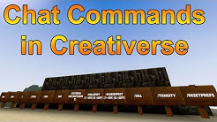 CHAT COMMANDS IN CREATIVERSE! - A Quick Creativerse Tutorial