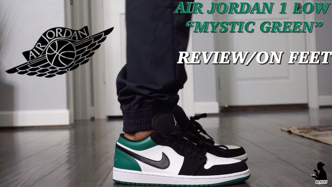 70b8cde781 AIR JORDAN 1 LOW SB MYSTIC GREEN REVIEW ON FEET - YouTube