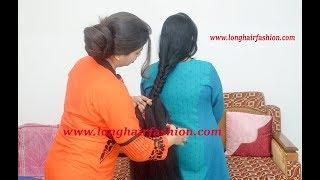 French Braid Making with jumbo Thick Long Hair Of Ritika by Rapunzel Varsha