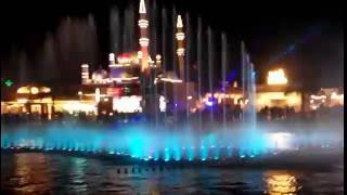 Dancing fountain with music in TITANIC - Dubai Shopping Festival
