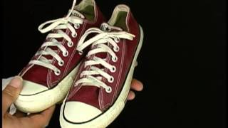 Vintage USA-MADE Converse All Star Chuck Taylor burgundy maroon at collectornet.net