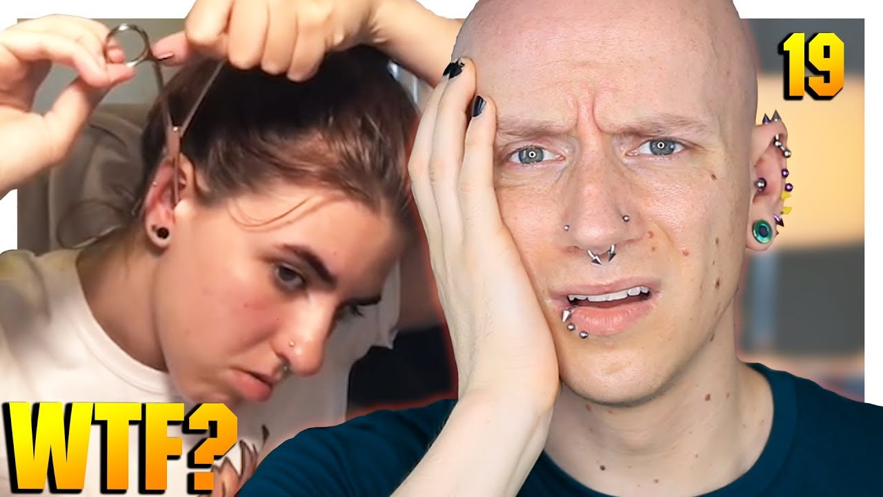 reacting to home piercing