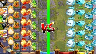 Plants vs Zombies 2 Mod - Tournament Fire vs Ice Competition in Plantas Contra Zombies 2 - Gameplay