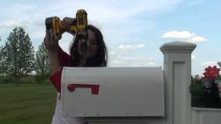 Installing Mail Topper On Steel Mailbox.mpg