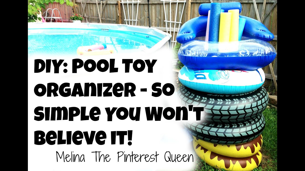Diy Pool Toy Organizer So Simple You Won 39 T Believe It Youtube