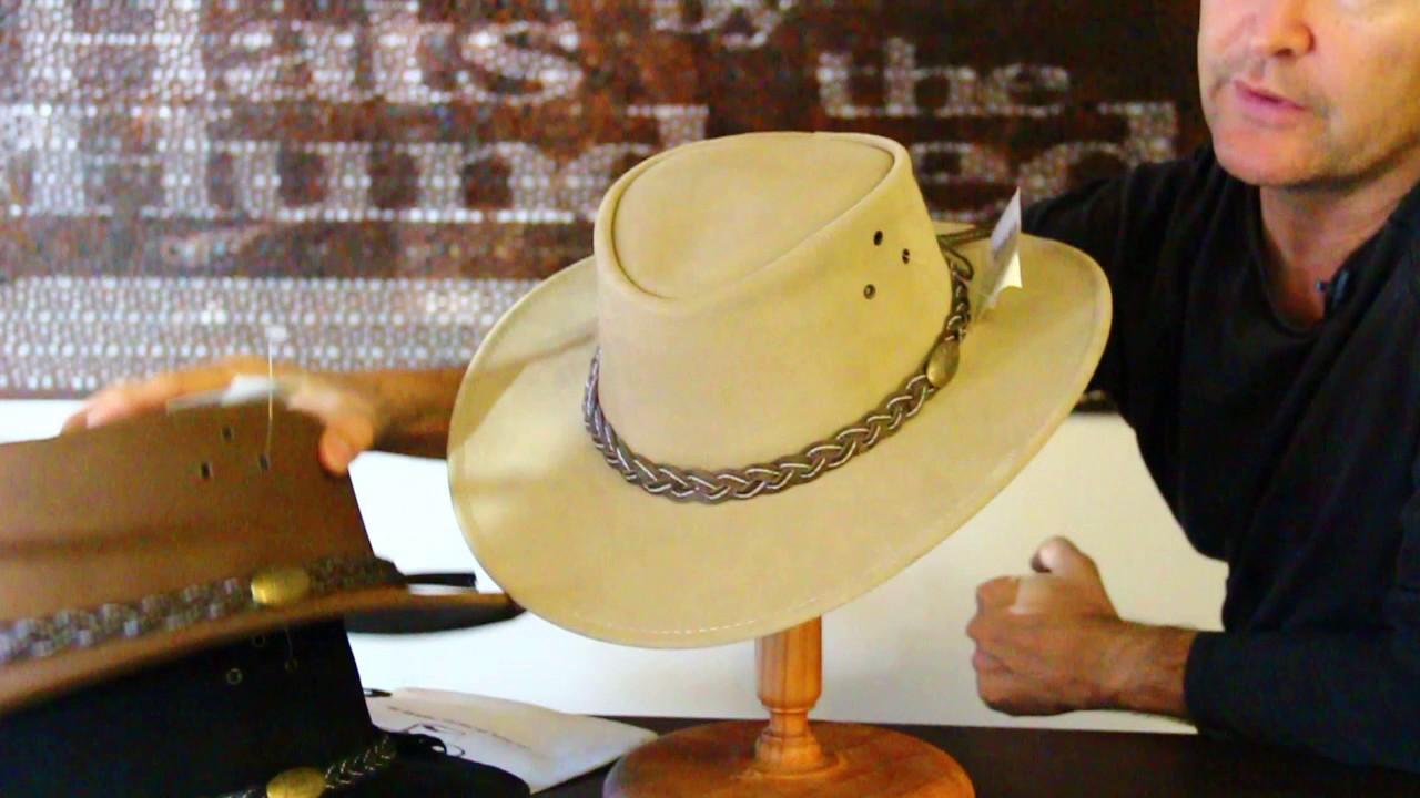 Jacaru Wallaroo Suede Outback Hat
