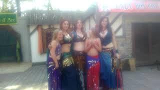 Breanna Dancing With Belly Dancers - Renaissance Fair