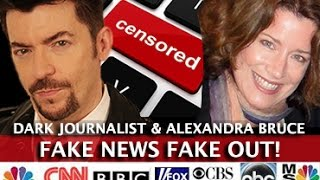 FAKE NEWS FAKE OUT - MAINSTREAM MEDIA ATTACKS! DARK JOURNALIST & ALEXANDRA BRUCE