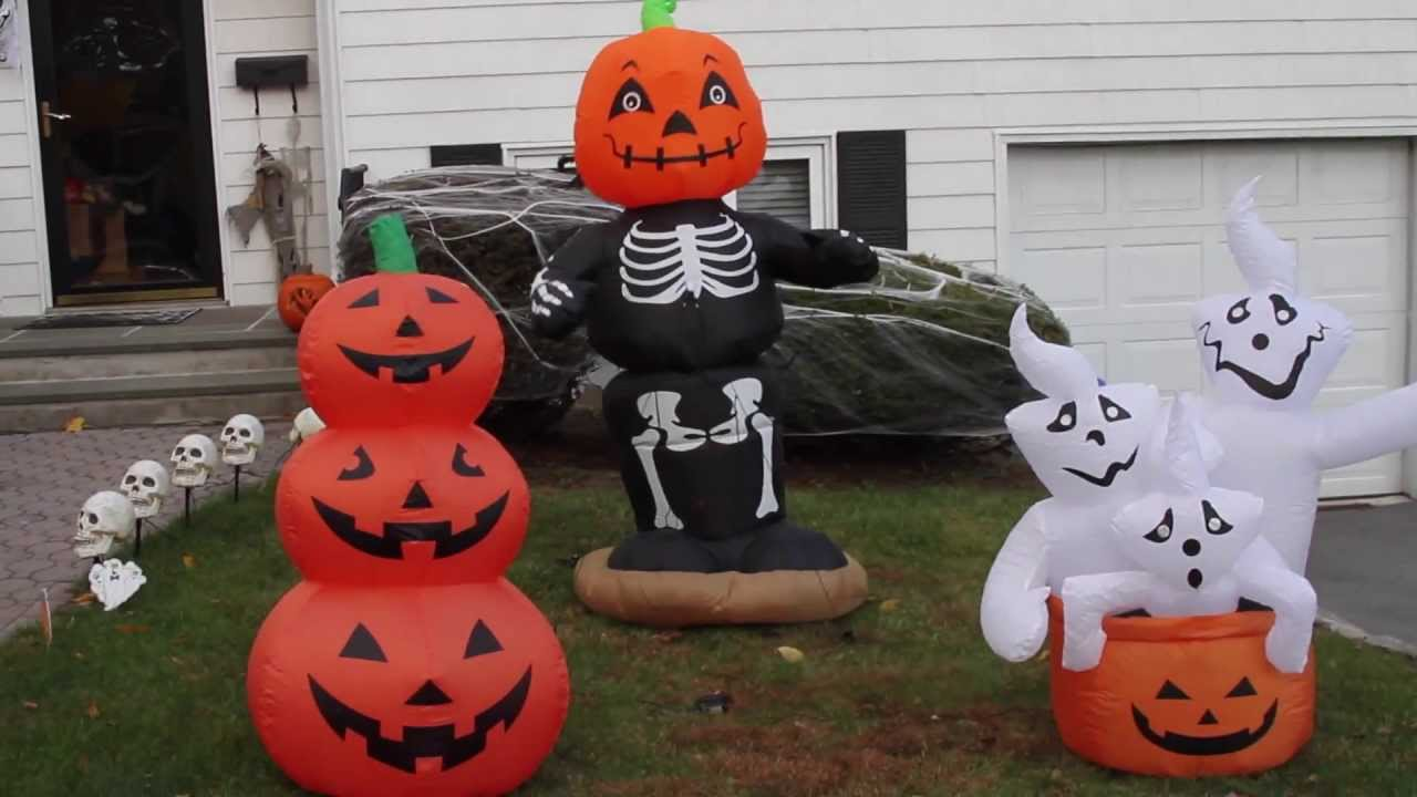 my airblown inflatable and halloween decorations display 2013 youtube - Blow Up Halloween Decorations
