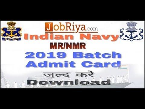 Download करें Indian Navy MR/ NMR Admit Card 2019 #jobriya