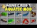 Minecraft AQUATIC MOD | MINECRAFT JAWS, TURTLES, SHARKS, FISH & MORE!!