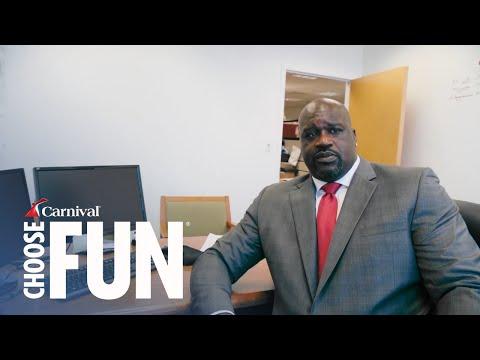 Meet Carnival's New CFO – Shaquille O'Neal | #ChooseFun | Carnival (with audio description)
