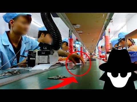 HIDDEN Camera in CHINA Smartphone Factory