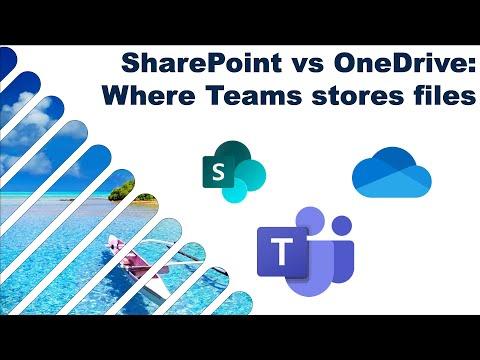 OneDrive Vs SharePoint Vs Teams