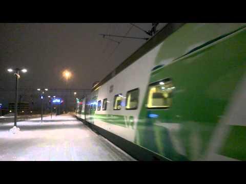 Pendolino S 76 Kuopio-Helsinki departs at Lahti on track 4.