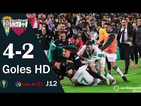 Córdoba 4-2 Extremadura | Todos los goles | Liga 1,2,3 2018/19