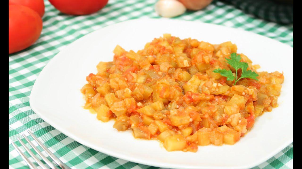Berenjenas con tomate cocina f cil youtube - Cocina con carmen ...
