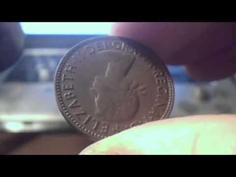30 x half penny coins