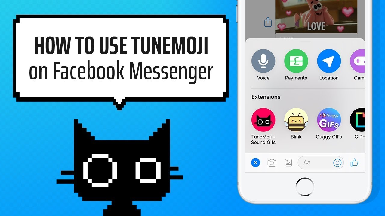 TuneMoji chat extension guide for Facebook Messenger!