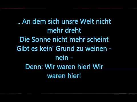 Cro Wir waren hier (Lyrics)