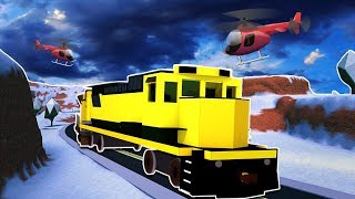 TRAIN ROBBERY ALL the COPS are ONTO US! -Roblox