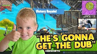 8 ANS OLD GETS HIS FIRST WIN in FORTNITE!! | TBNRKENWORTH (en anglais seulement)
