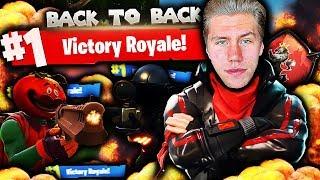 DOBBEL VICTORY ROYALE PÅ FORTNITE?! 🏆🔥 BACK TO BACK SEIER FOR FØRSTE GANG!!