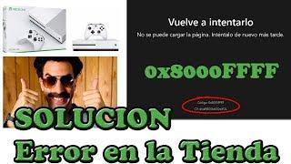 Tutorial Solucion a Error en Tienda Xbox 0x8000FFFF Facil y Rapido