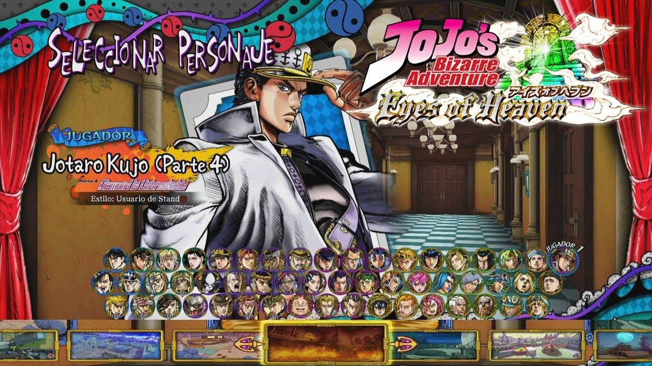 JoJo's Bizarre Adventure: Eyes of Heaven: All Characters with All DLC  (Complete Roster) & Stages