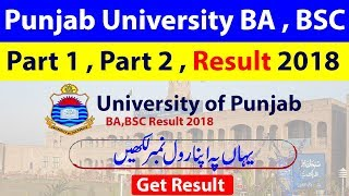 Punjab University BSC_BA Result 2018 || Pu Result 2018 ||
