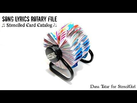 Song Lyrics Rotary File by Dana Tatar for StencilGirl