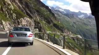 Driving in Swiss Alps