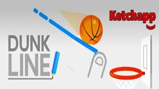 Dunk Line - Draw and Play | iOS & Android GamePlay