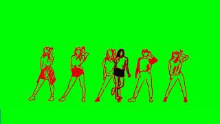 Hot sexy girls dance 18 animation green screen video