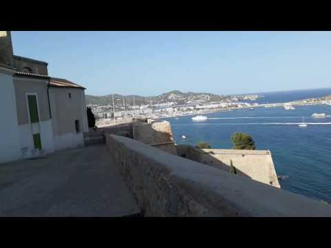 Ibiza from the Old Town Dalt Vila - Spain - 15th July 2017