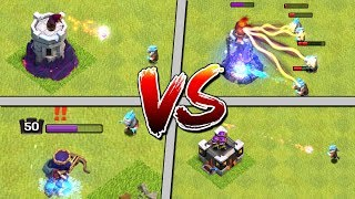 ICE WIZARD vs ALL DEFENSES - Clash of Clans! Clan Games CoC Update 2017 - New Troop Attacks!