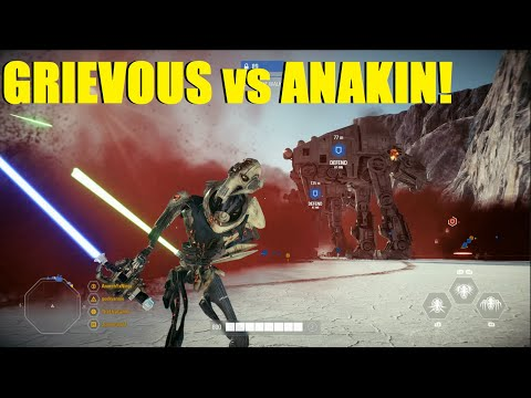 Star Wars Battlefront 2 - General Grievous vs Anakin Skywalker! (Pre patch) | Crait is my fav map? thumbnail