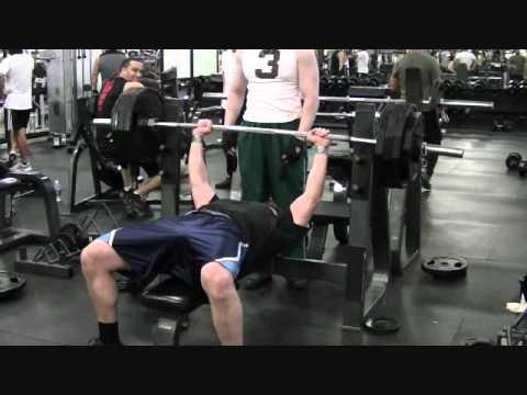 405 lbs BENCH PRESS THE RETARDED WAY