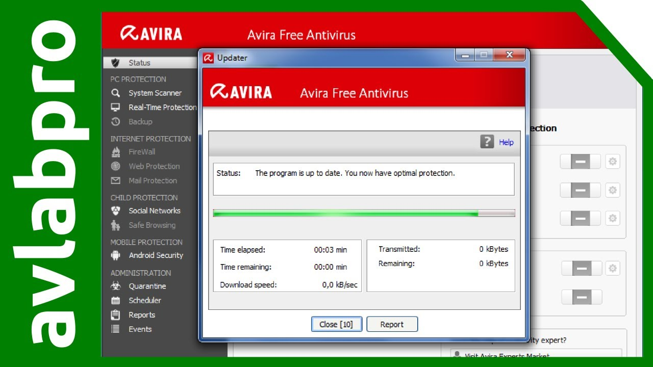 AVIRA 2014 Manual Offline Update with VDF zip file