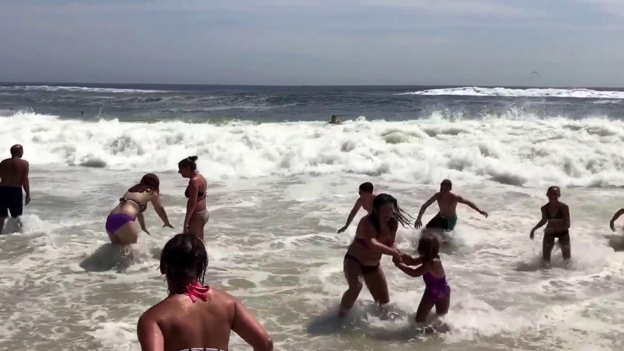 Robert Moses Beach Rough Water Waves 8 16 17